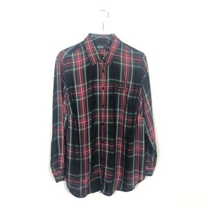 NWT Lauren Plaid Button Down Shirt